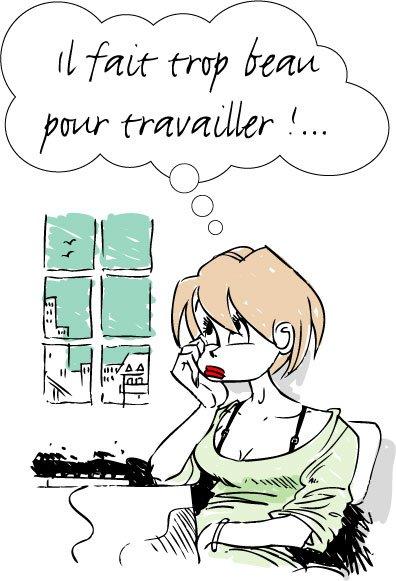 LES PARISIENNES IL FAIS TROP BEAU POUR TRAVALLIER