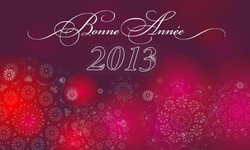 JE VOUS SOUHAITE UNE TRÈS BONNE ANNÉE 2013 MES AMIES GROS BISOUS JOSIE