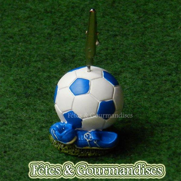 Foot figurine ballon et chaussures porte photo bapteme communion