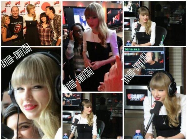 Le 8/11/12 : Taylor  chez cauet sur NRJ.