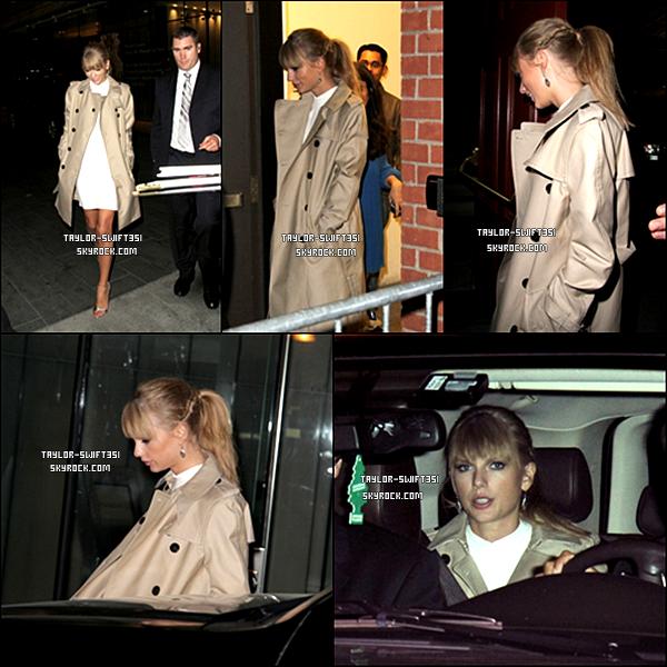 Le 11/09/2103 :  Taylor   était à Soho à Toronto.   Taylor est magnifique , je lui donne un TOP et vous ?