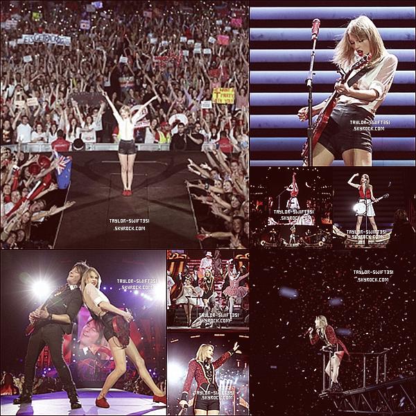 Le 14/12/2013  : Taylor vient de terminer sa tournée  Australienne  pour le Red Tour   dans la ville de  Melbourne  .   J'ai trouver que la tournée Australienne était superbe , maintenant Taylor commencera le RED TOUR pour l'europe le 1er Février à Londres .