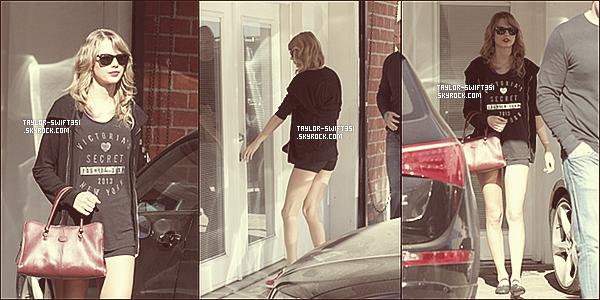 Le 7/01/2014 :Taylor s'est rendue  à  son cours de danse dans la région de  Los Angeles.    J'aime beaucoup sa tenue gros Top et vous ?