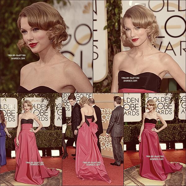 Le 13/01/2014: Taylor était au Golden Globes.   J'adore sa robe , donc je lui donne un Gros Top et vous ?