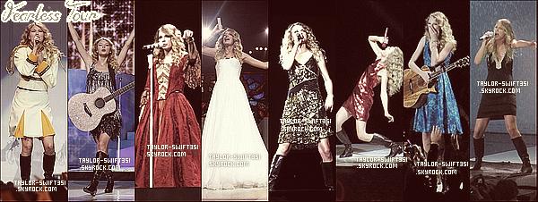 Re/Découvrez les tenues de Taylor de ses tournées . Personnellement, j'aime beaucoup ses tenues et vous, quelle est votre tournée préférée et votre tenue préférée?