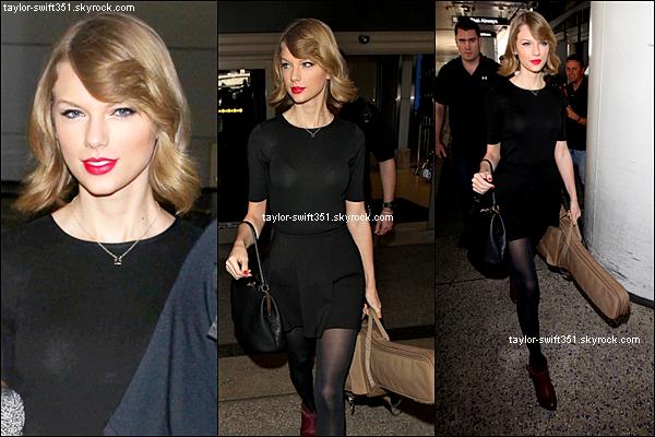 12.02.14 : Arrivée de Taylor à Los Angeles. Que pensez-vous de sa nouvelle coupe ? Personnellement, j'adhère !