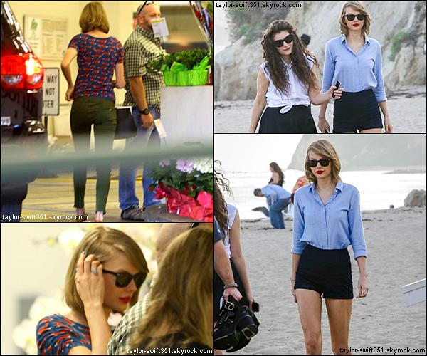 21.02.14 : Taylor *toujours à L.A* a été vue dans une épicerie de Californie.