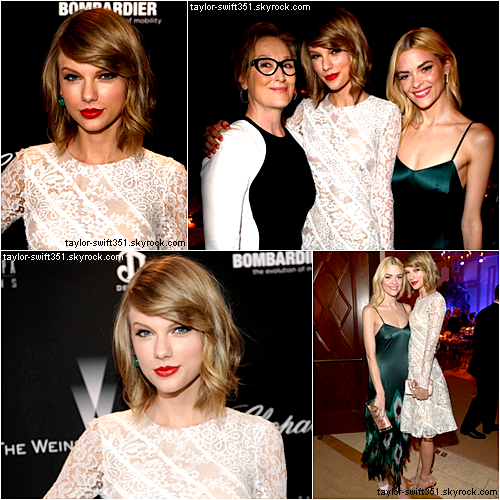 02.03.14 : Taylor Swift s'est rendue à la Weinstein Pre Oscar Party à Los Angeles.