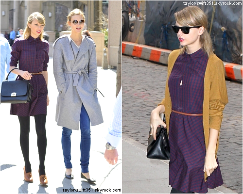 01.04  et 02.04 2014 : Taylor Swift se promenant dans New York City.