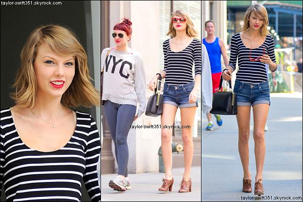 11.04.14 : Taylor Swift a de nouveau été vue sortant de chez elle, et rendant visite à Ed Sheeran dans New York City.