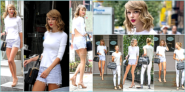 Le 14/07/2014: Taylor a été vue allant à la gym ainsi que de sortie au restaurant avec son amie Karlie Kloss à New-York .   Pour sa tenue je lui donne un Top et Vous?