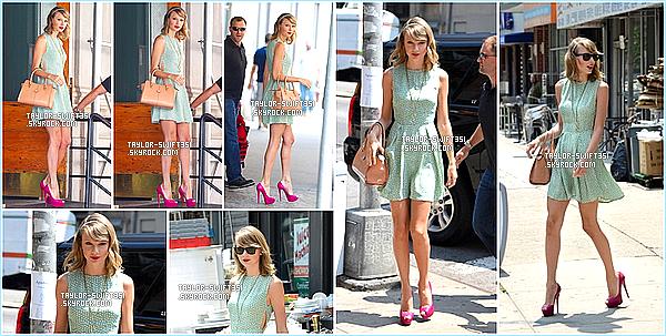 Le 24/07/2014:Taylor a été vue à Central Park à New-York . Elle a enregistré une interview pour le magazine « Forbes » .   J'adore sa tenue , je lui donne un TOP et vous?