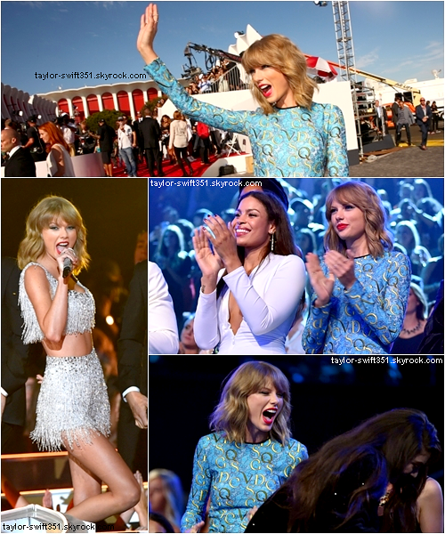 24.08.14 : Taylor était présente aux MTV Video Music Awards.