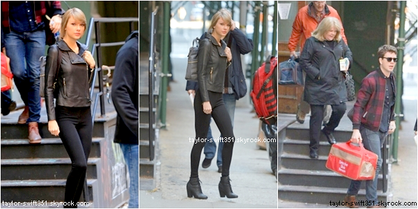 26.12.14 : Taylor quittant son appartement à New York.