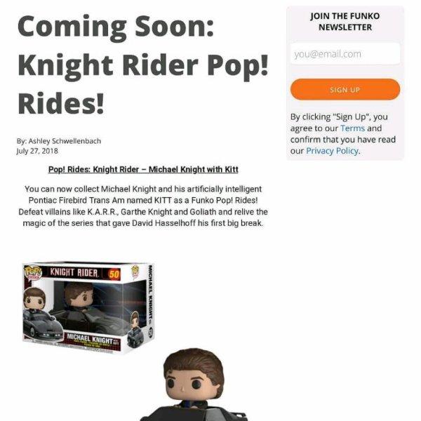 Pop knight rider