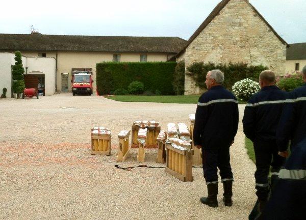 Feu d'artifice Chateau de Gilly 2011