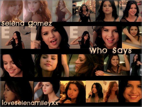 """Voici quelques photos du nouveau clip de Selena """"Who Says""""."""
