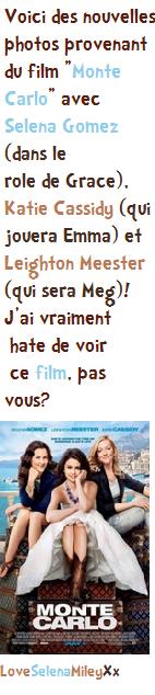 """Nouveaux stills du film """"Monte Carlo""""!"""