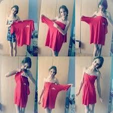 T-shirt ---> Robe