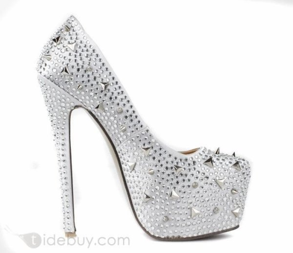 f4712f13d72 Tidebuy Reviews: Fashion Silver Leather Upper Stiletto Heels Closed ...