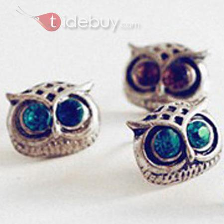 Reviews Europe Style Vintage Owl Women's Earrings On Tidebuy