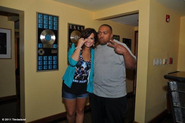 Demi Lovato : Timbaland travaillent sur un morceau