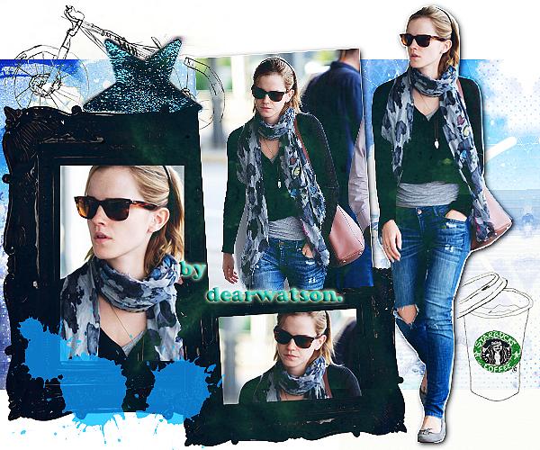 Emma à été phoitopgraphiée à l'aéroport JFK à New-York ce vendredi 15 juin direction Londres ! Emma est une fois de plus très belle et j'apprécie beaucoup sa tenue !
