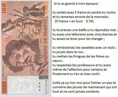 """"""" 100"""" morale et sans ...conscience !!"""