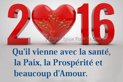 2016 UN NOUVEAU DEPART!!!