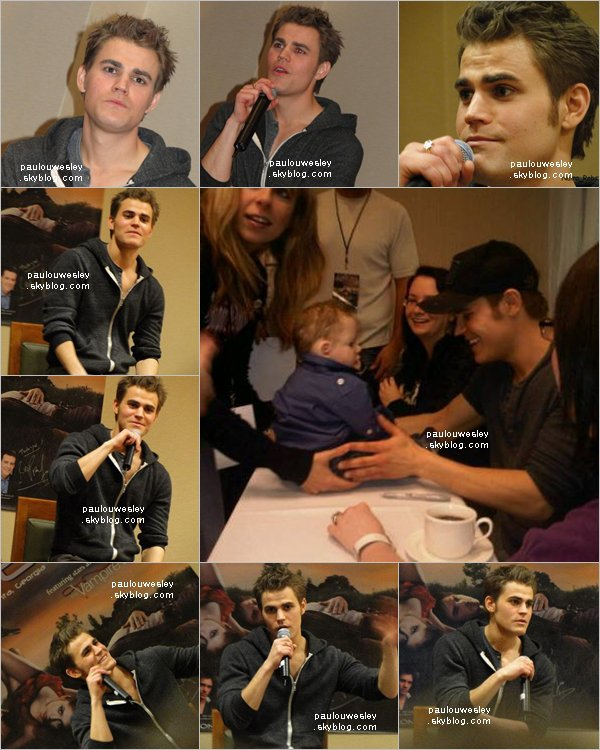 . Paul Wesley, était invité à la EyeCon Convention, le 27 mars à Atlanta.   video 1 - video 2 - video 3 - video 4 - video 5 - video 6  .
