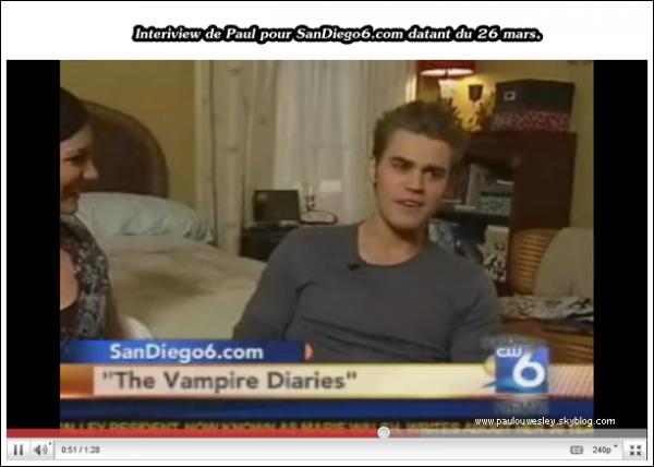 .  Voici çi dessous, l'interview de Paul en compagnie de Carina McKenzie posté sur son site. .