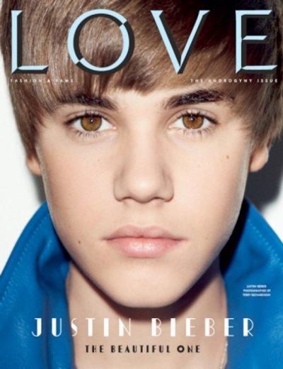Justin en couverture du magazine love!!!=)