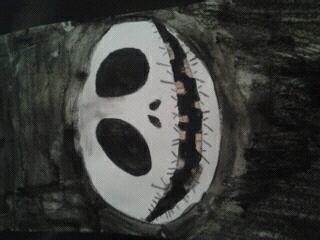 Mister jack que j'ai dessiné (pour les bavures, c'est parce qu'il y a eu un probleme avec l'eau)