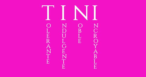Tini ❤signification❤de❤prénom(Remixe si tu trouve mignon la signification de ce prenom)