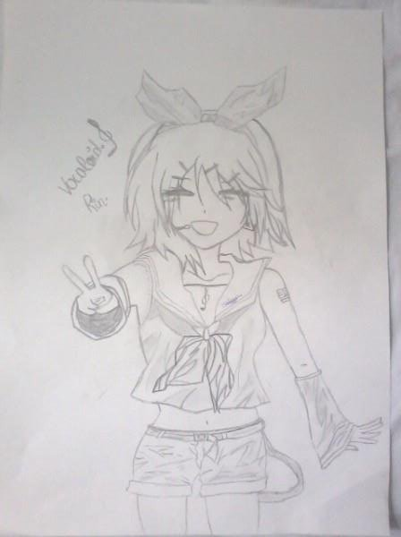Bon comme prévus je mets le dessin Vocaloid!! ;D