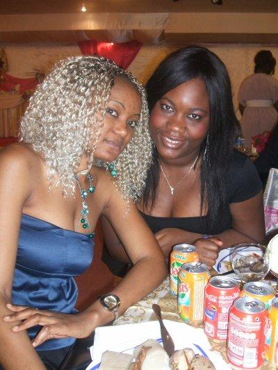 Gaella et moi à une soirée congolaise