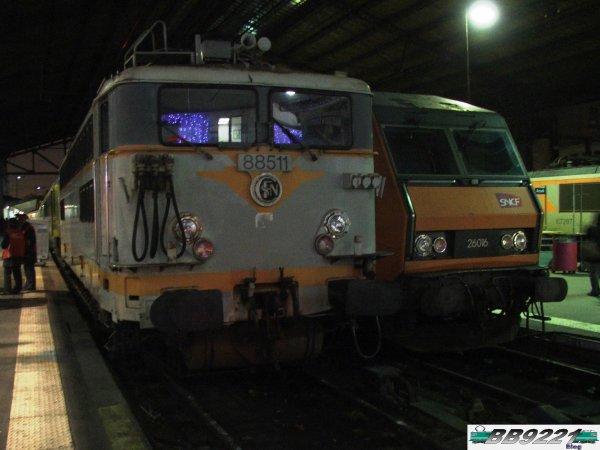 BB 88511 et BB 26016 à Paris Austerlitz