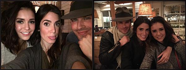.  07.02.2017 |  Nikki, Ian et Nina ont posté deux nouvelles photos via leurs comptes Instagram ensembles. A eux trois, ils ont tout fais pour arrêter que les fans se haïssent et spéculent à propos de leur relation. Nina et Ian se sont quittés en bons termes et si ce n'est pas le cas, ils sont passés à autre chose et le prouvent ! Les deux femmes semblent également aller de l'avant et ne pas avoir d'animosité l'une envers l'autre. Ils montrent l'exemple et c'est une bonne chose :) .