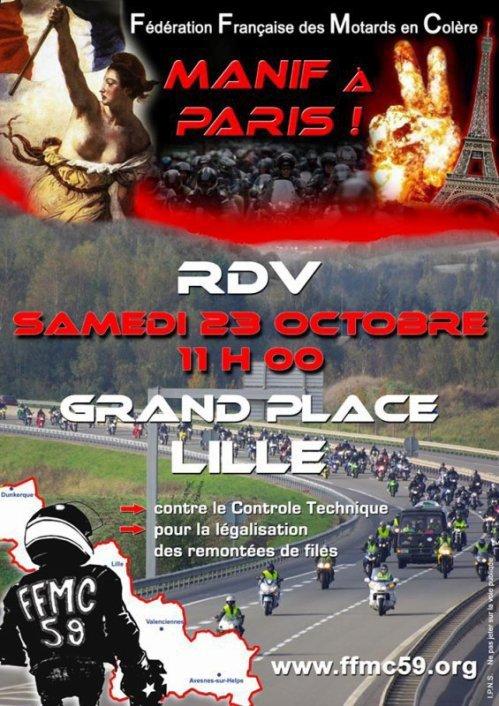 Manif des motards à Paris!