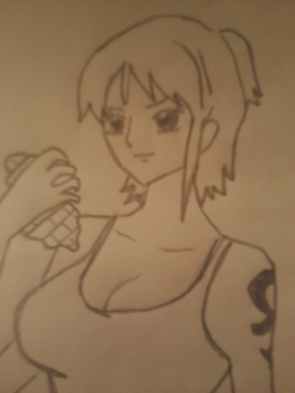 dessin de nami strong world