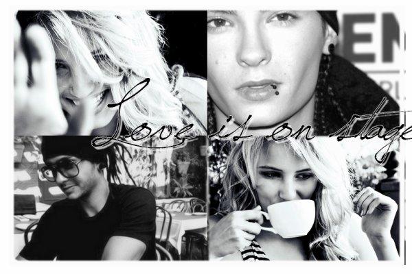 Love is on stage, une histoire d'amour, la leur, peut-être aussi la vôtre.     _____    Tom Kaulitz    &    Misha Desmazières    _____