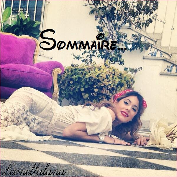 Sommaire...♥