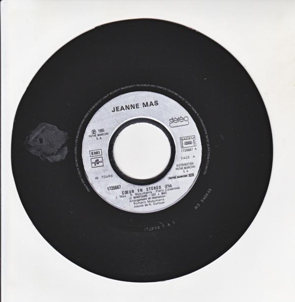 """Coeur en stereo 7"""" 45 tours - Jeanne Mas"""