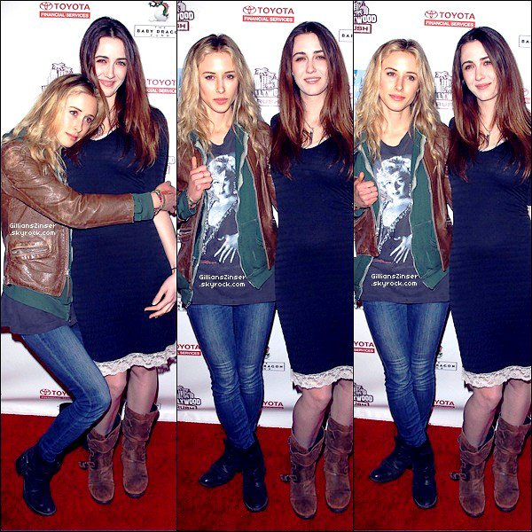 . 19/02/12 : Gillian a été aperçue au 2nd Annual Hollywood rush benefiting dans un théâtre   La tenue est assez simple : veste, slim, bottes mais tout est bien accordé. Les couleurs sont bien associés ce qui mérite un Top ♥  .