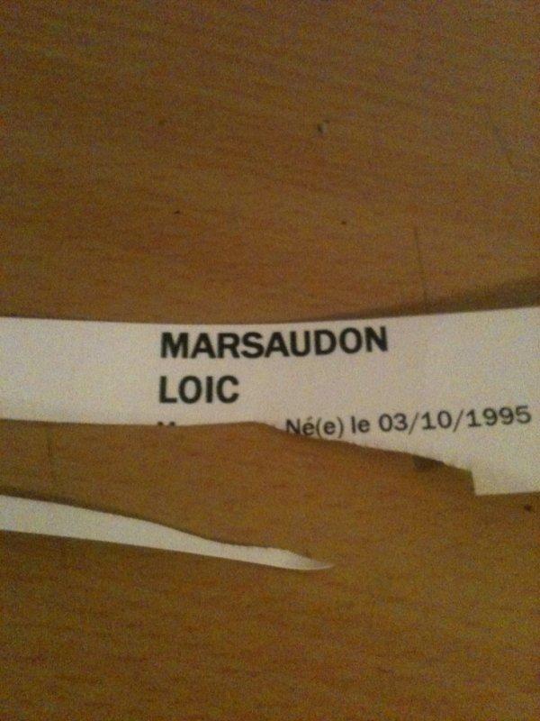 voici le bracelet de l'hôpital