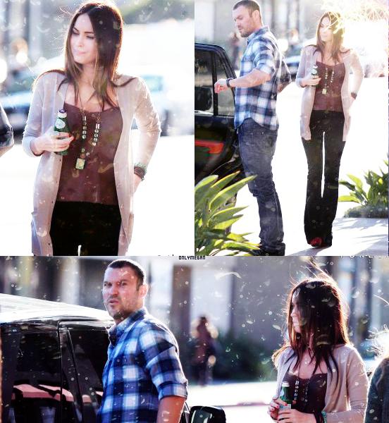 01/04/2012 : Megan & Brian allant à la messe à LA. + Extrait de l'interview donnée au mag The Sun.