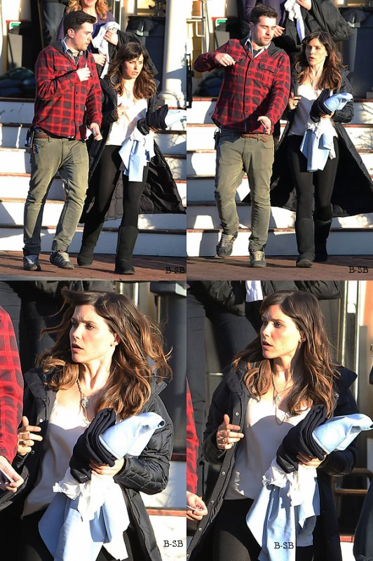 26/03 : D'autres photos de Sophia sur le tournage de Hatfields & McCoys en compagnie de Nick Westrate.