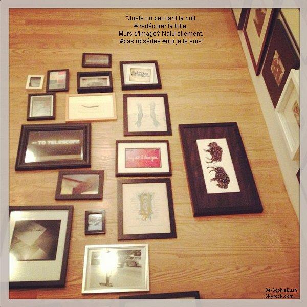 04/04 : Sophia a passé sa soirée à redécorer son mur d'images. Haha elle a bien fait ça... On peut le dire!