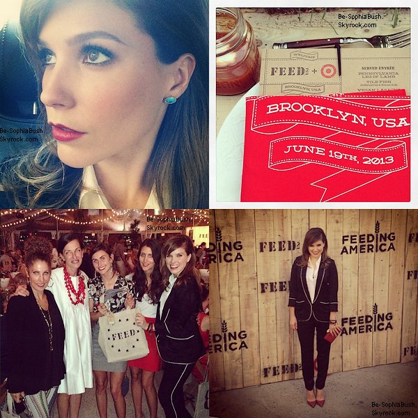 DIVERS ET APPARENCES : 20/06 : Sophia était présente à l'événement « FEED USA + Target Launch Event » qui avait lieu à New-York. Top pour la belle ! (Photos instagram + photos officielles)