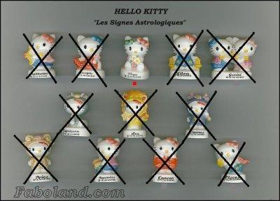 """RECHERCHES 5  HELLO KITTY """"les signes astrologiques"""""""